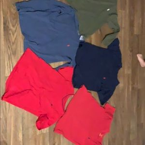 Size 8 and one 7 polo shirts